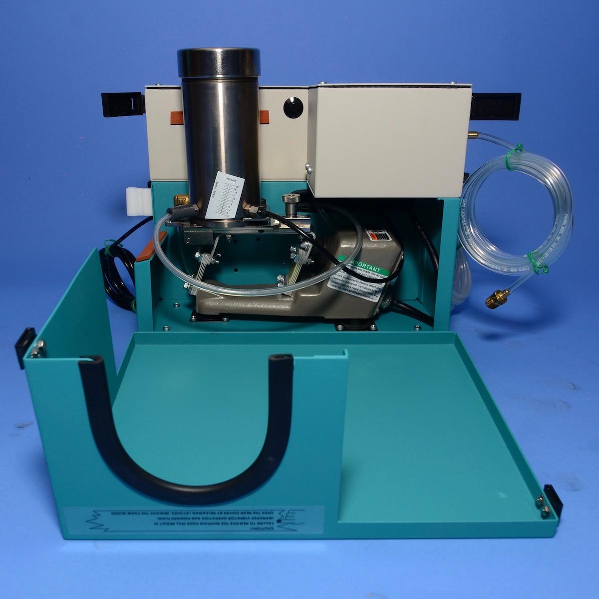 SWAM BLAST MV-2, MV2-L | Carbide Fittings | Tilt Tank for Easy Replacement of Abrasives