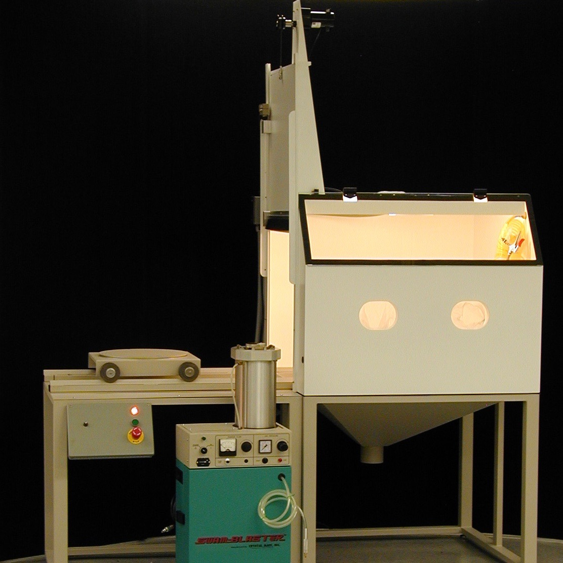 Automated Micro Sand Blasting System with XV-1 SWAM Blaster