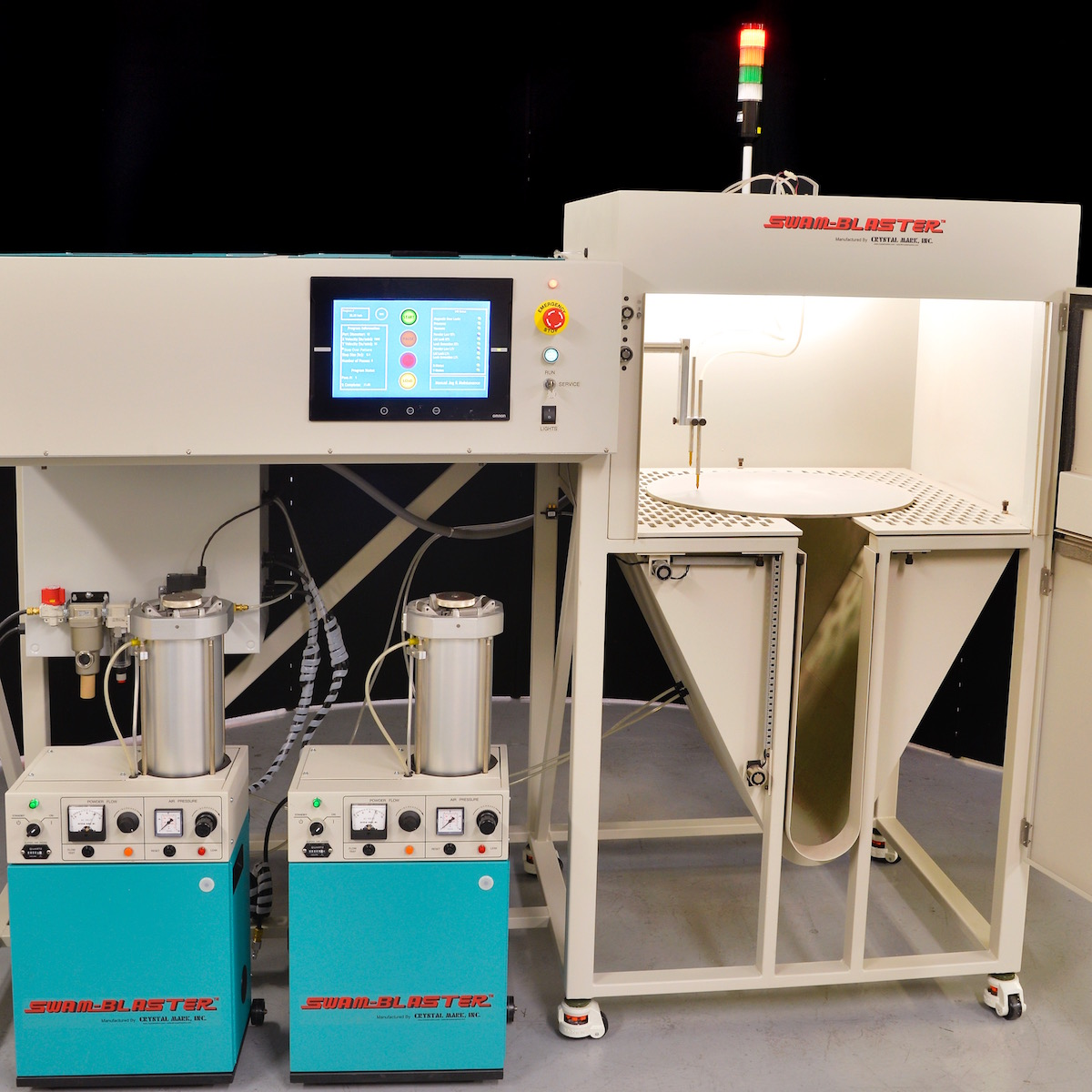 SWAM Automated System NP 24x24 | Selective Micro Abrasive Processing on Large Pieces