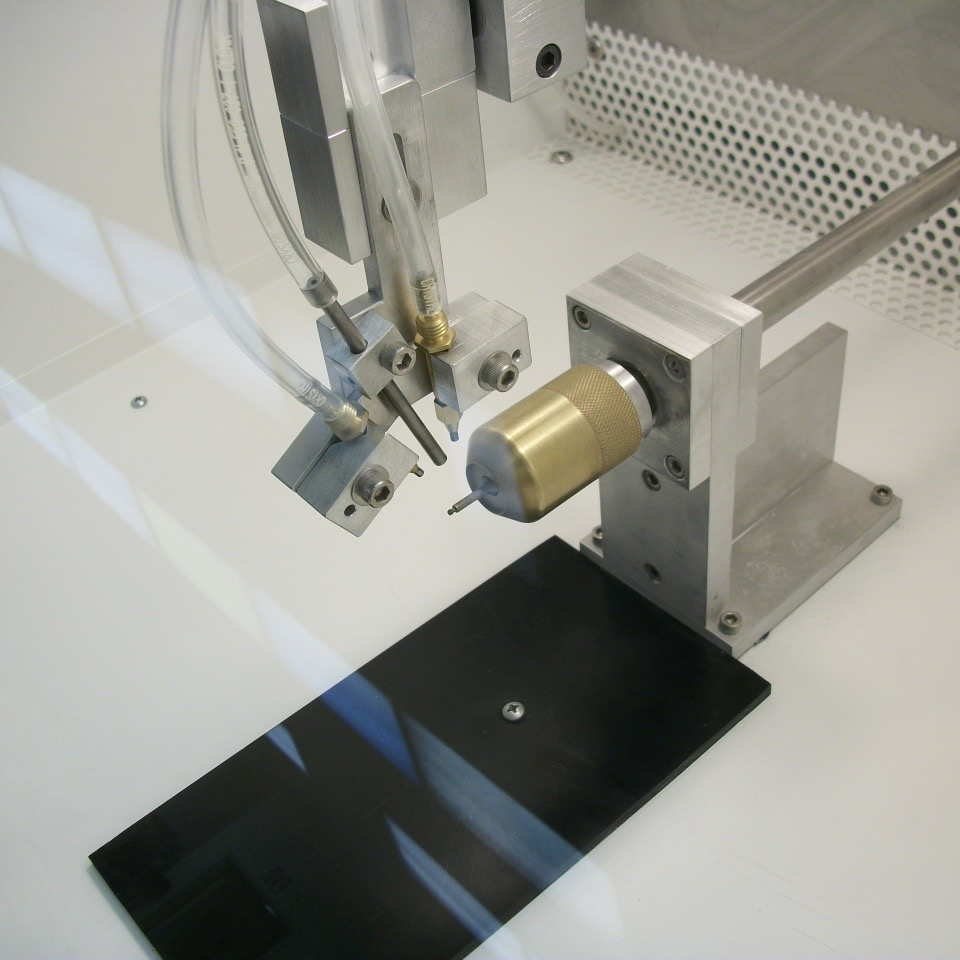SWAM Rotary Work Cell | Single Spindle Abrader | Work Area from Side Angle