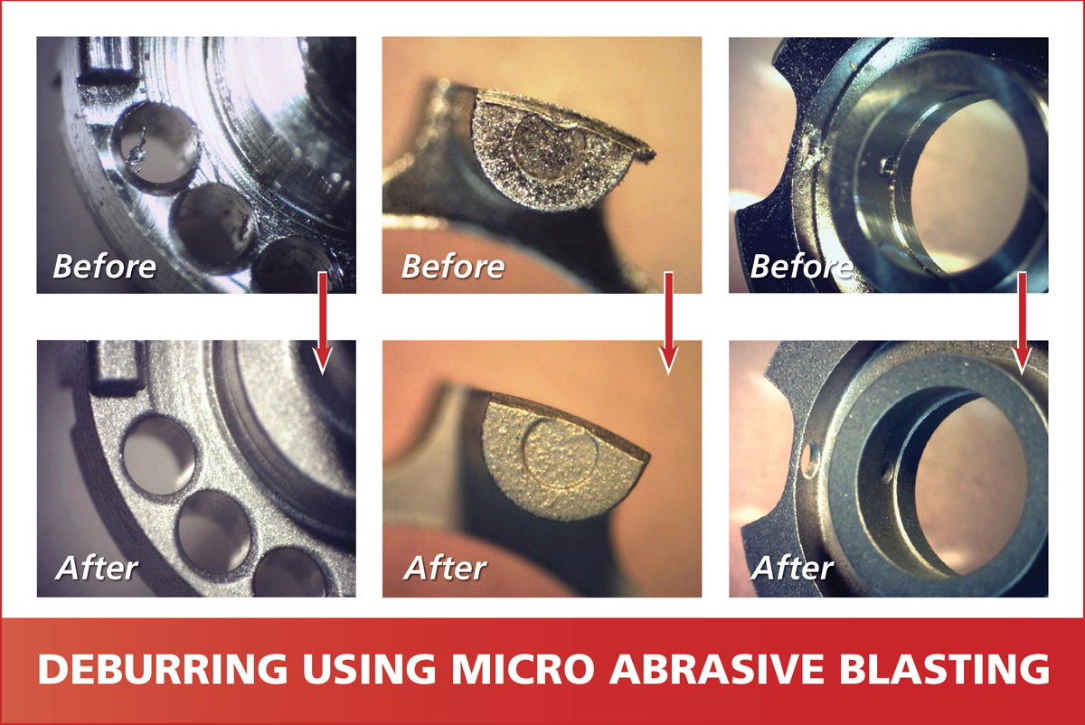 Deburring using Micro Abrasive Processing - Examples