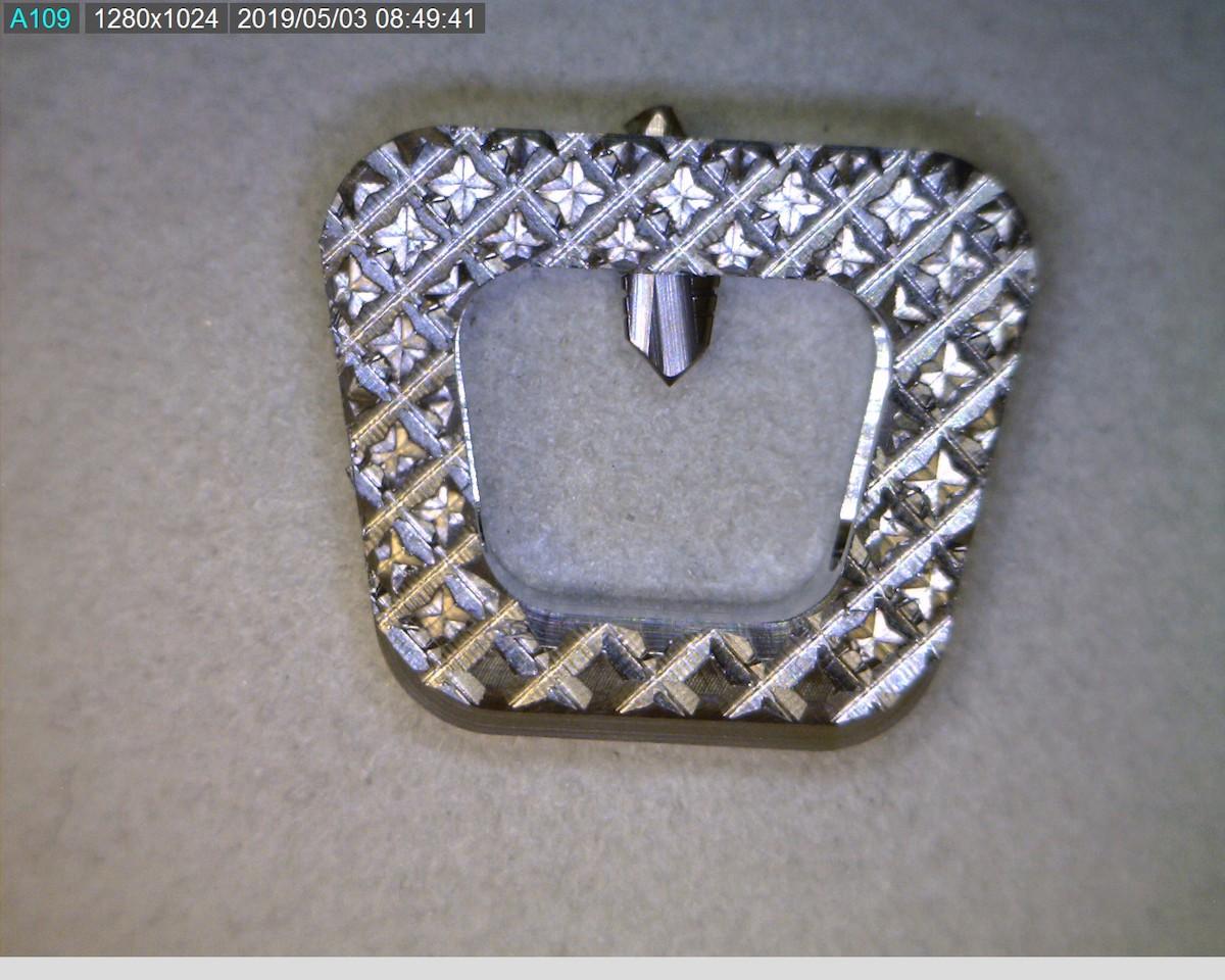 Back Implant Disk - Before Surface Finishing using Crystal Mark Micro Abrasive Blasting Process