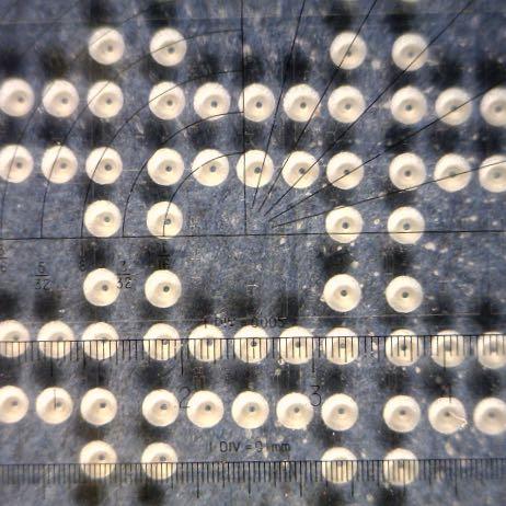 Micro holes drilling using micro abrasive processing - microsandblasting